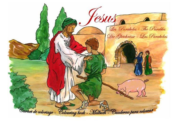 Jésus : les Paraboles - Carnet de Coloriage