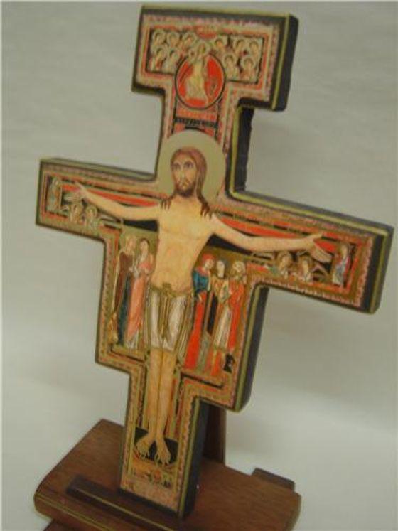 Icône Croix  de St François d´Assise  18 x 22 cm