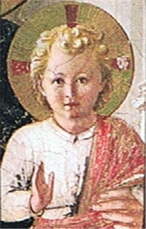 Icône autocollante Cailloux 4x5 L´Emmanuel Enfant Jésus