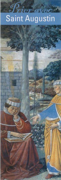"""Signet """"Prier avec"""" Saint Augustin - Lot de 10 - Prier avec quelques grands témoins"""