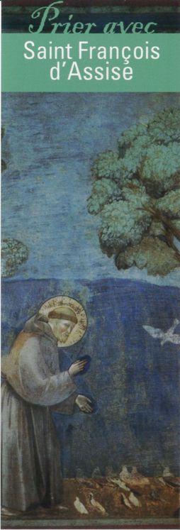 """Signet """"Prier avec"""" Saint François d'Assise - Lot de 10 - Prier avec quelques grands témoins"""