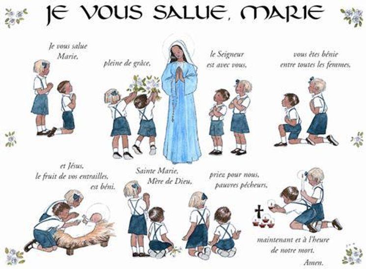 Carte je vous salue Marie (à l´unité)