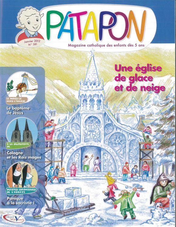 Une église de glace et de neige - revue Patapon Janvier 2012 N°381