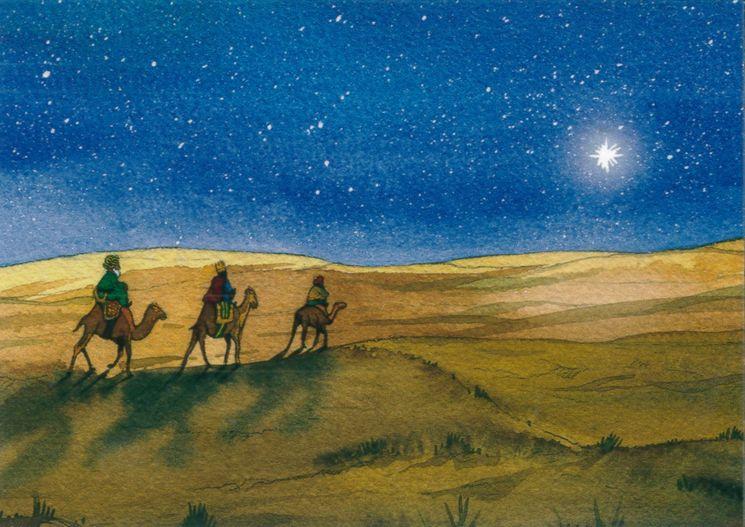 10 cartes doubles nuit de Noël - Les Rois Mages
