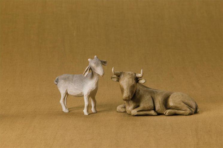 Le boeuf et la chèvre (Ox and Goat) creche Willow tree