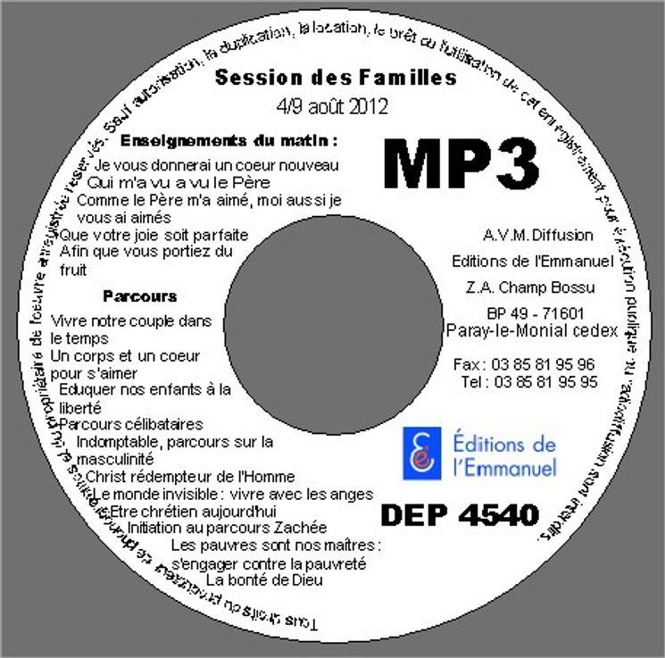 MP3 Session famille 02 août au 09 août 2012
