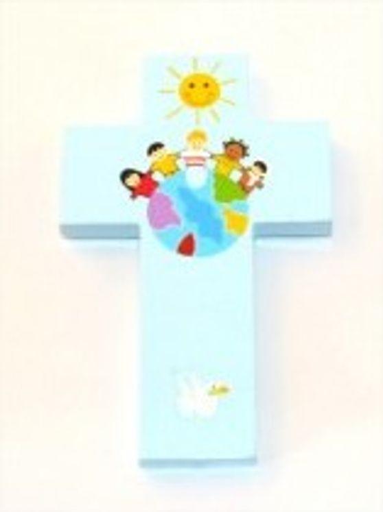 Croix enfants du monde GM 13 x 20 cm