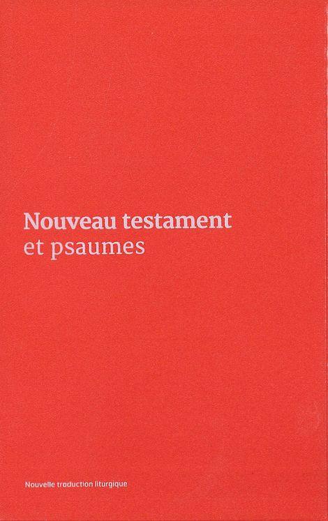 Nouveau Testament et Psaumes - Couverture vinyle rose