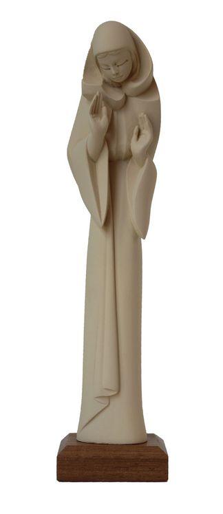 Statue Notre-Dame du Oui, résine ivoirée