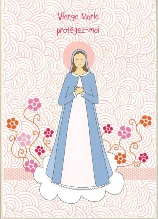 Icône Tante Menoue à accrocher ou à poser Vierge au buisson de roses