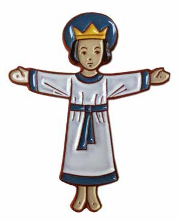 Céramique Jésus Christ-Roi  bras ouvert blanc