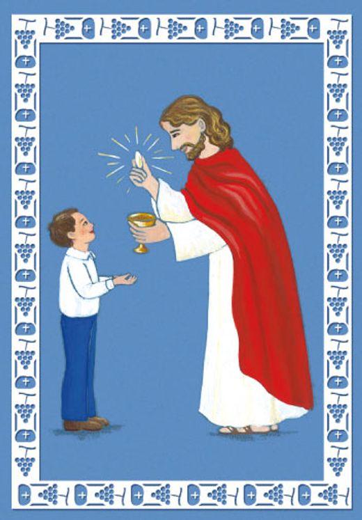 Lot de 25 - Image Communion Jésus et communiant