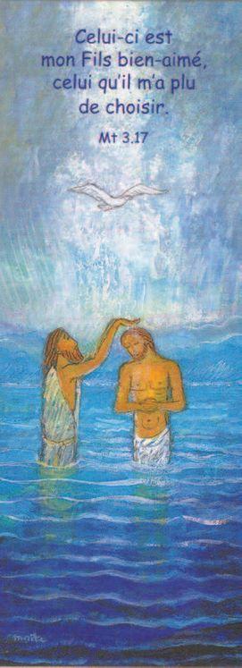 Lot de 25 - Signet Maïte Roche Baptême de Jésus