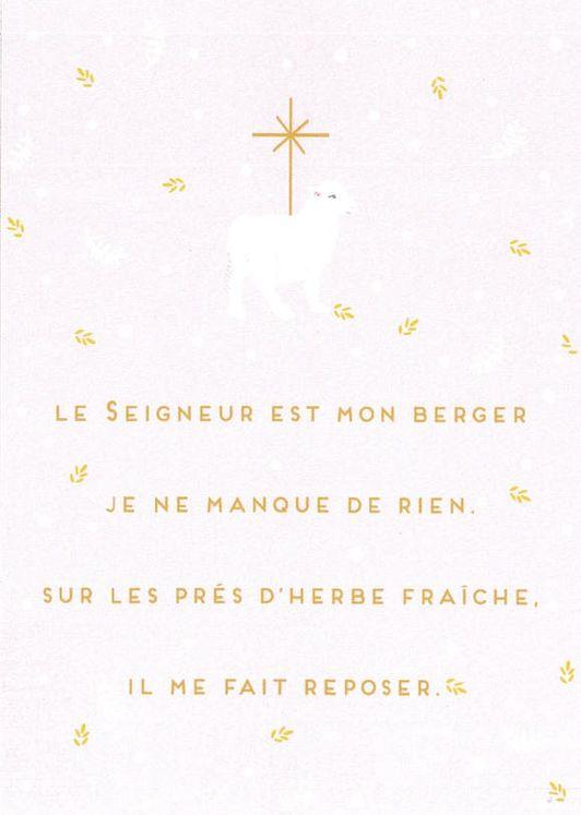 Lot de 25 - Image Mon Berger 2 - Le Seigneur est mon berger, je ne manque de rien
