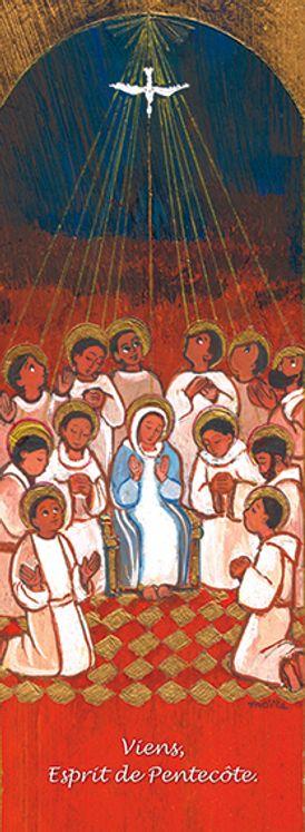 Lot de 25 - Signet Maïté Roche Pentecôte - Viens Esprit de Pentecôte
