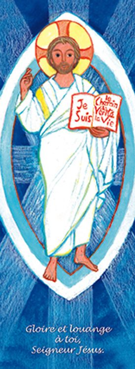 Lot de 25 - Signet Maïté Roche Résurrection - Gloire et Louange à toi Seigneur Jésus