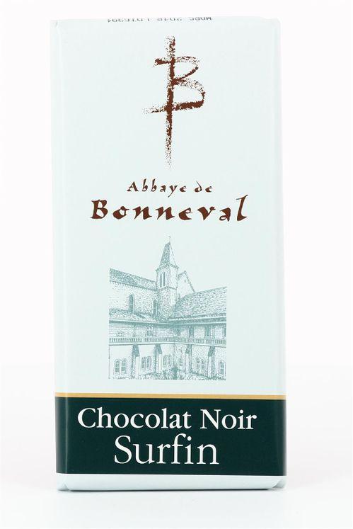 Chocolat noir surfin 53 % de cacao, tablette de 100 g
