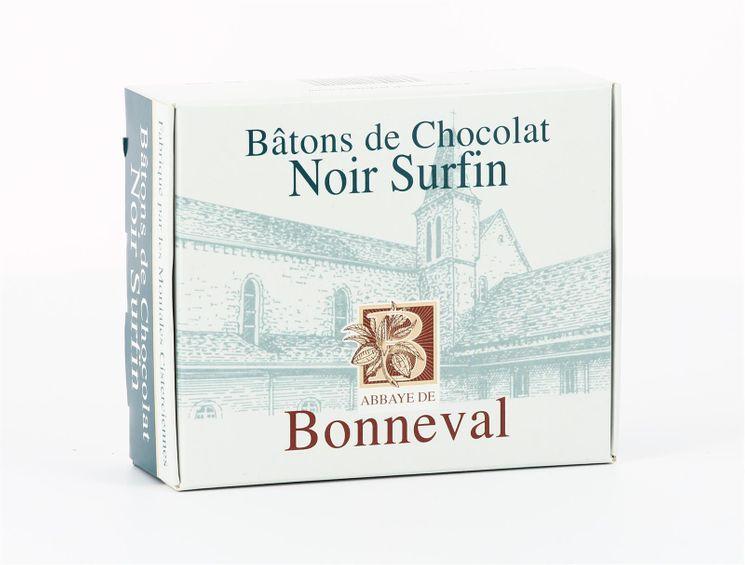 Chocolat noir surfin 53 % de cacao (20 bâtons), boite 240 g