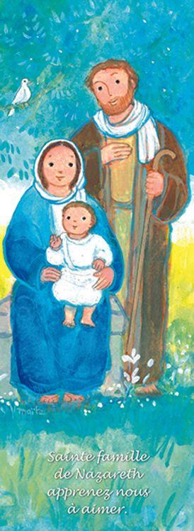 Lot de 25 - Signet Maïté Roche Sainte Famille - Sainte Famille de Nazareth apprends-nous à aimer