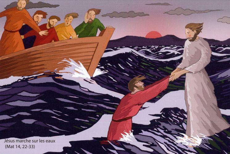Puzzle 160 pièces - Jésus marche sur les eaux