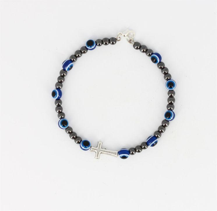 Dizainier sur ruban d'acier avec fermeture Bleu - diam 6cm