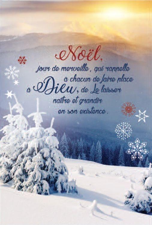 Lot de 10 - Carte Double Noël jour de merveille
