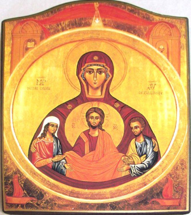 Icône Notre-Dame de l´Alliance  13 x18 cm