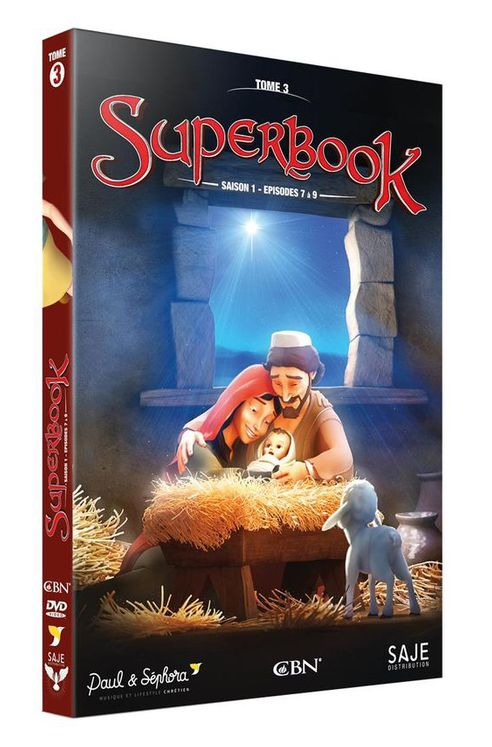 Superbook Tome 3 - Saison 1 - Episodes 7 à 9  - DVD