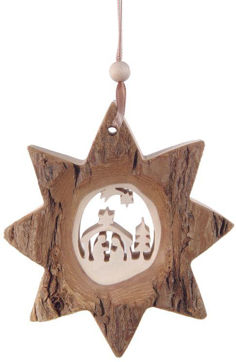 Décoration Noël Etoile de la Nativité avec ficelle à suspendre