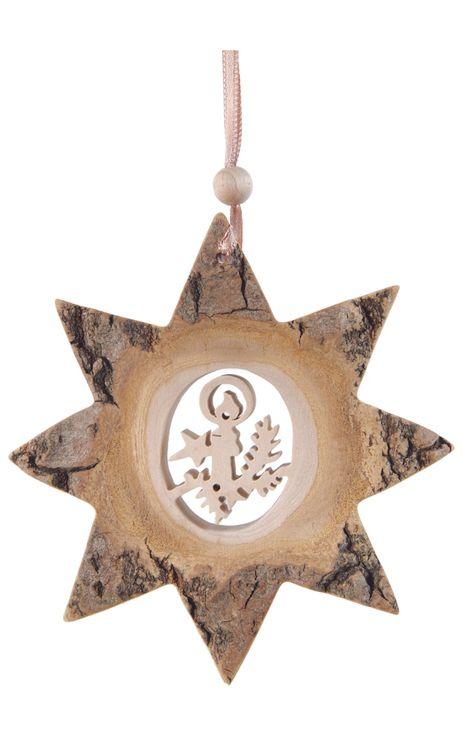 Décoration Noël Etoile Bougie avec ficelle à suspendre