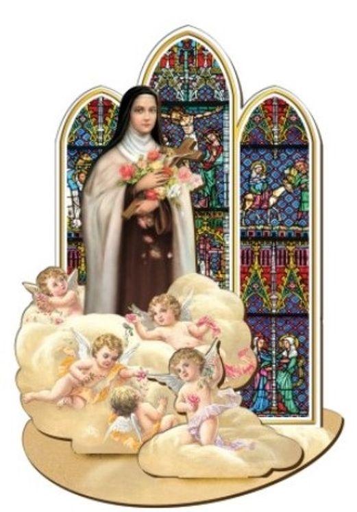 Sainte Thérèse - Saint en bois à assembler (taille 12 cm)