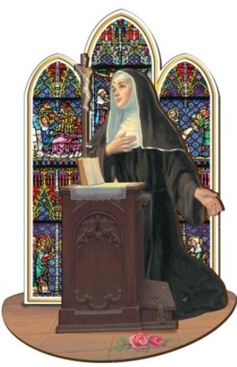 Sainte Rita - Saint en bois à assembler (taille 12 cm)