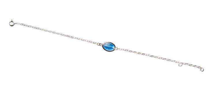 Bracelet  avec médaille Miraculeuse émail verre grand feu