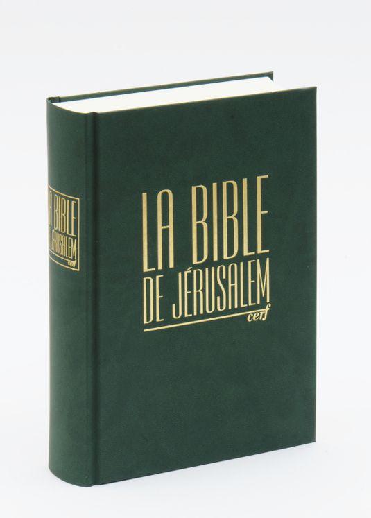 Bible de jerusalem compacte reliee verte