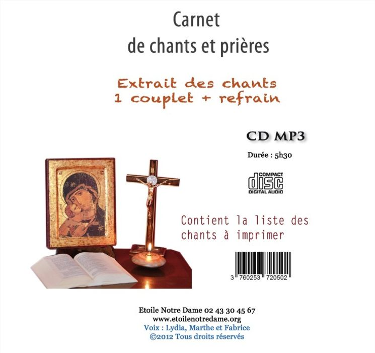 CD - Carnet de chants et prières