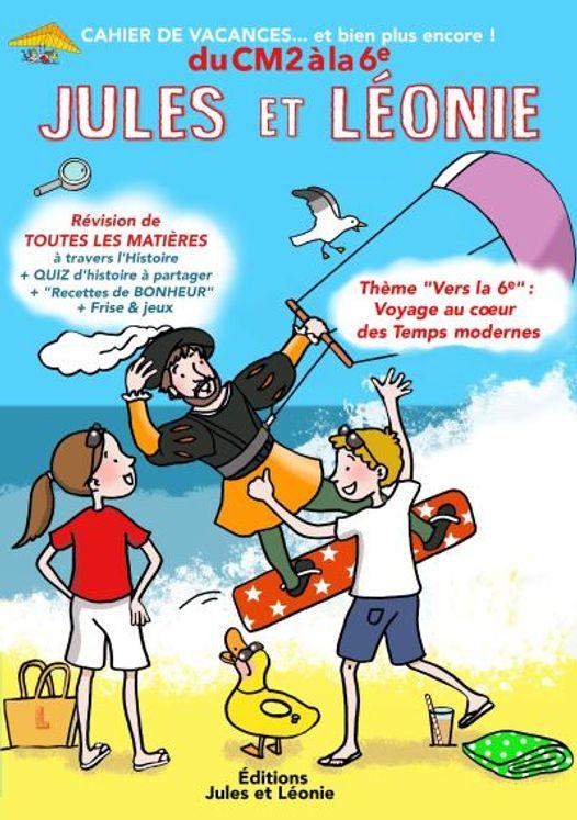 Cahier de vacances Jules et Léonie du CM2 à la 6ème