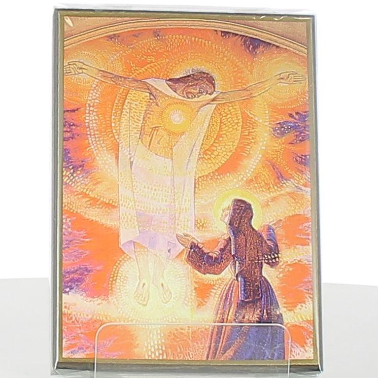 Icône Fresque de la Visitation de Paray-le-Monial (sans phrase) 10 x 15 cm