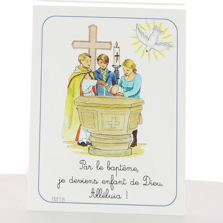 Image fête de la foi 7 x 12 cm Baptême