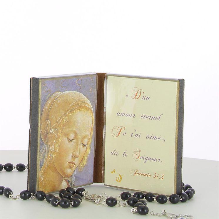 Icône diptyque Vierge  D´un amour éternel -  8.5 x 6.5 cm